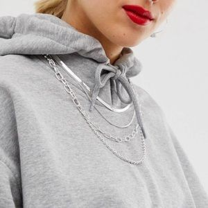 Layered silver necklace ASOS